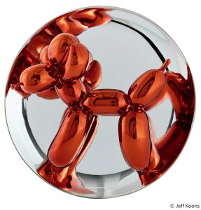 plate balloon dog orange