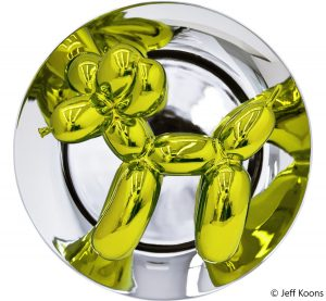 plate balloon dog yellow